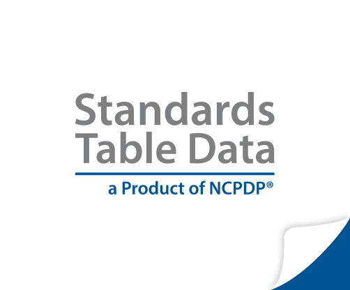 Standards Table data